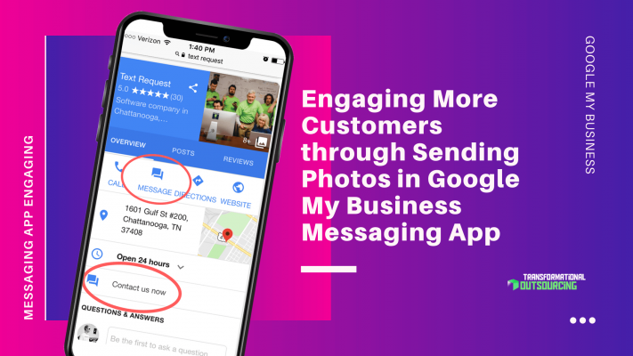 Engaging More Customers through Sending Photos in Google My Business Messaging App