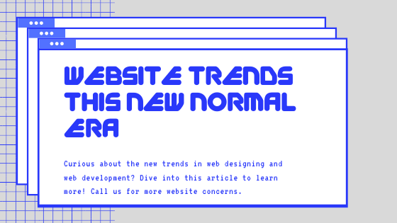 New Normal Business Website Trends You Need to Consider